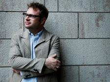"""Singer Steven Page poses for a photograph in Toronto on Thursday, October. 14, 2010. Page has a new solo album coming out called """"Page One."""" (THE CANADIAN PRESS/Nathan Denette)"""