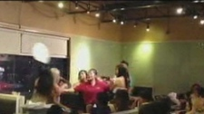Woman hit in face with plate restaurant fight