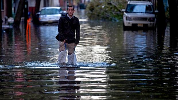 Superstorm Sandy New Jersey flood damage