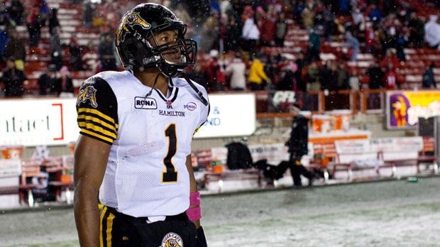 Hamilton Tiger-Cats' quarterback Henry Burris