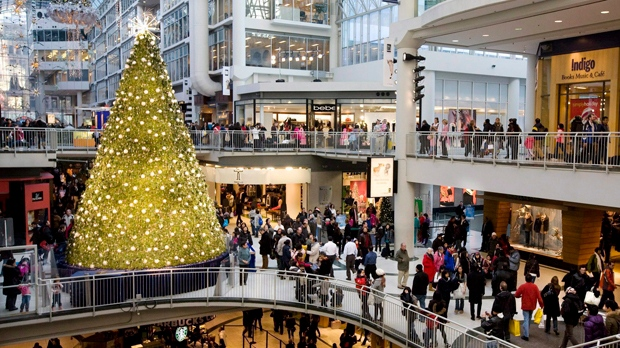 Toronto Eaton Centre holiday shopping sales