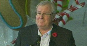 Peter Beresford, president of the Toronto Santa Claus Parade, speaks with reporters on Friday morning. (CP24)
