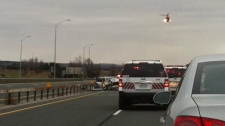 Highway 400 Highway 88 crash air ambulance