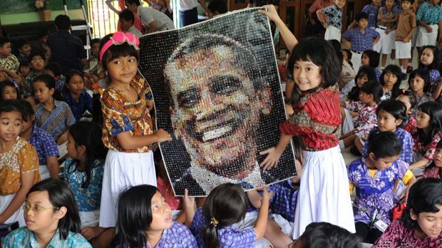 Barack Obama election Jakarta Menteng school