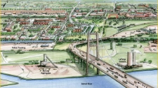 Detroit Windsor new bridge artist rendering