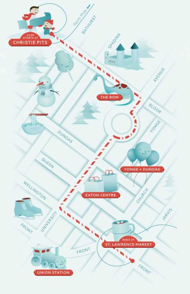 2012 Santa Claus Parade route