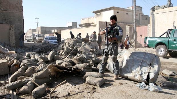 Afghanistan roadside blast suicide bombing