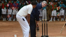 Stephen Harper hockey cricket Bangalore India