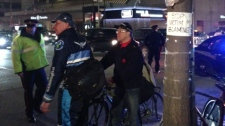 Cyclist demonstration