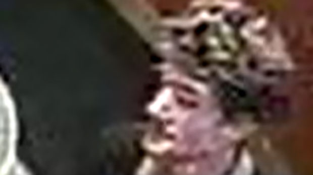 Toronto police have released this image of a suspect wanted in connection with the theft of a poppy box for a Tim Hortons on Bloor Street West on Friday, Nov. 9, 2012.