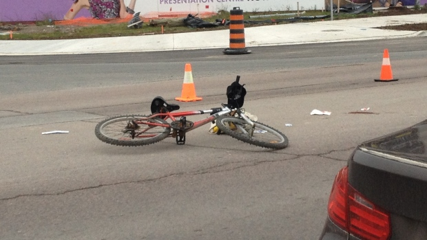 Cyclist struck in Markham
