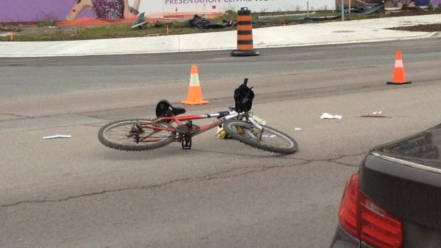Cyclist struck in Markham