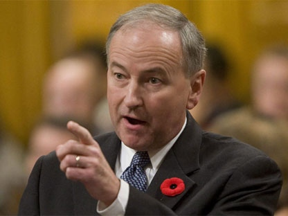 Minister of Justice and Attorney General of Canada Rob Nicholson rises during Question Period in the House of Commons on Parliament Hill in Ottawa, Tuesday November 2, 2010. (THE CANADIAN PRESS/Adrian Wyld)