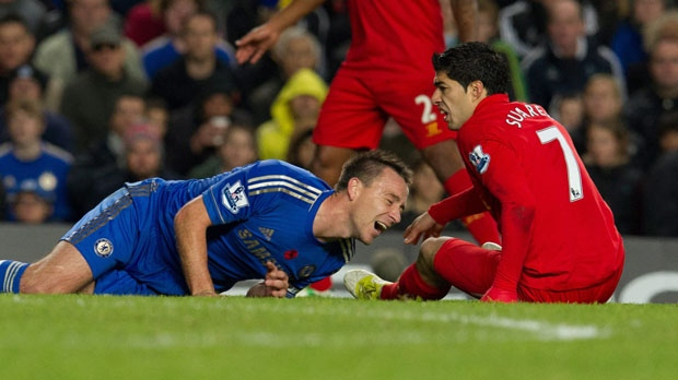 Chelsea John Terry injury Liverpool Luis Suarez