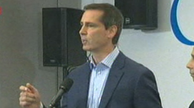 Premier Dalton McGuinty speaks to reporters during a news conference in Toronto on Tuesday, Nov. 13, 2012.