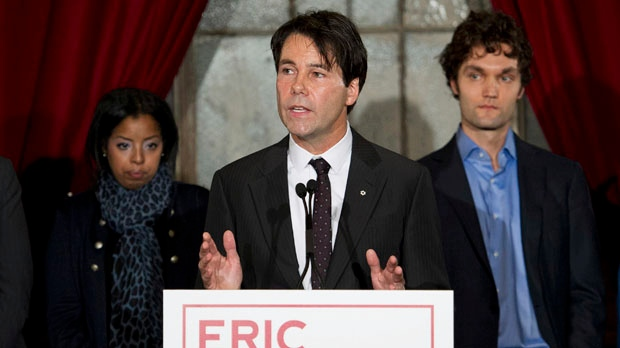 MPP Eric Hoskins announces his candidacy for leader of the Ontario Liberal Party in Toronto on Tuesday, Nov. 13, 2012. (The Canadian Press/Nathan Denette)