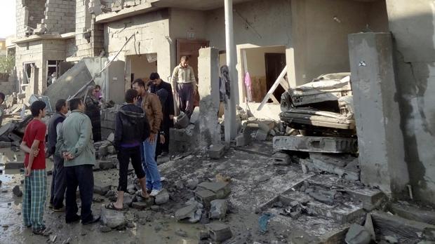 Iraq insurgents bombing Baghdad