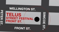 A map of the Telus Street Festival, which will be the location for a number of free concerts throughout the 100th Grey Cup celebrations.