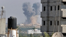 Gaza City explosion rocket Israel