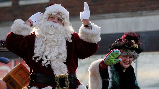 Santa Claus parade Detroit Royal Oak Michigan