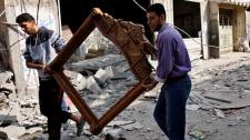 Gaza City Israel blast rocket explosion