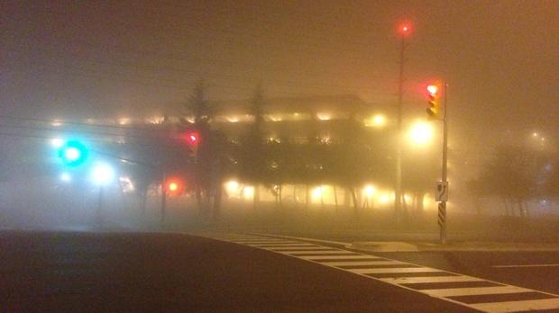 Dense fog Mississauga GTA Toronto