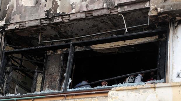 Egypt protesters firebomb Al Jazeera studio