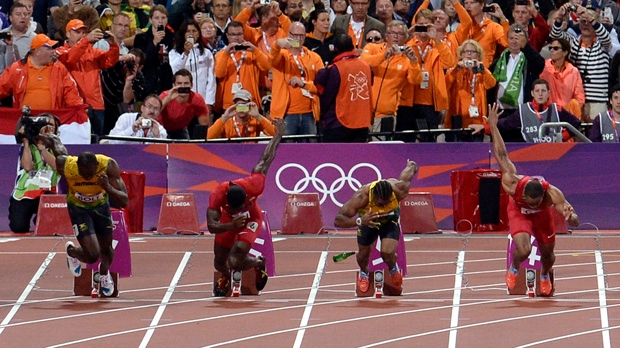 Man trial throwing bottle London Olympics 100m