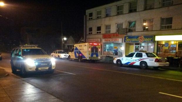 Man woman injured machete attack Eglinton Dufferin