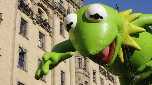 New York City Thanksgiving parade Kermit the Frog