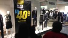 Black Friday shopping sales Eaton Centre Toronto