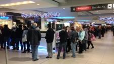 Black Friday shopping sales Toronto Eaton Centre