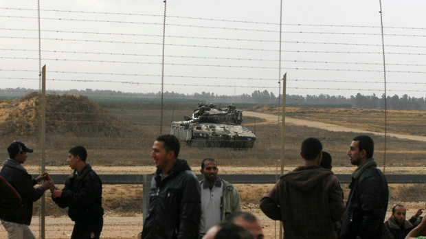 Israeli troops Gaza Strip