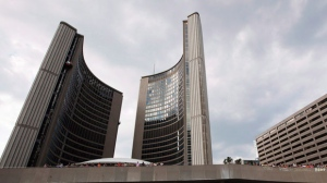 Toronto City Hall is shown in this file photo. (The Canadian Press/Michelle Siu)
