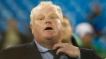 Mayor Rob Ford reacts after the Don Bosco Eagles, the high school football team he coaches, lost to the Huron Heights Warriors in the Metro Bowl in Toronto on Tuesday, Nov. 27, 2012 (The Canadian Press/Chris Young)