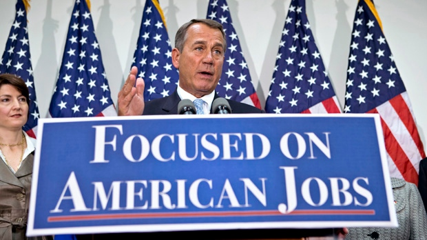 White House Congress John Boehner fiscal cliff