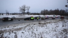 Highway 400 Highway 89 Barrie crash
