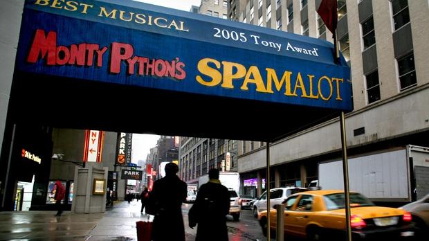 Producer sues Monty Python members Spamalot