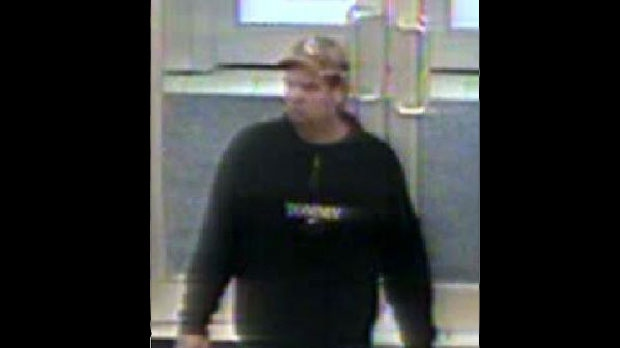 The suspect in an attempted abduction of a five-year-old boy from a Zellers store pictured in this photo released by police Sunday, December 2, 2012. (Police Handout)