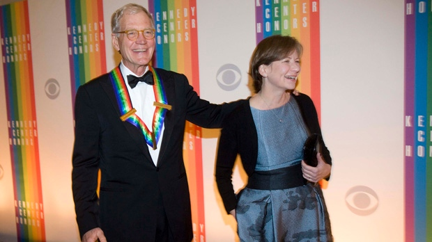 David Letterman wife Regina Kennedy Center Honors