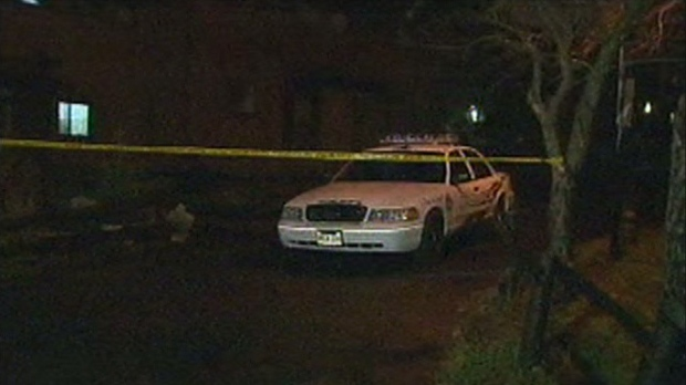 Police investigate a stabbing near Morningside Avenue and Military Trail early Monday, Dec. 3, 2012.