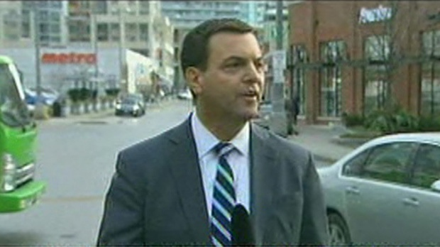 PC leader Tim Hudak speaks to reporters in Toronto on Tuesday, Dec. 4, 2012.