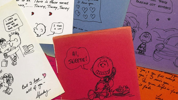 Peanuts creator Charles Schulz love letters