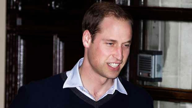 Britain's Prince William leaves a hospital in central London on Wednesday, Dec. 5, 2012, after visiting his wife Kate, the Duchess of Cambridge, who is being treated for severe morning sickness. (AP Photo/Lefteris Pitarakis)