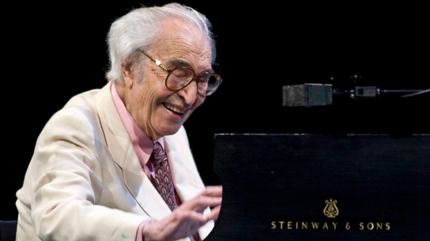 Jazz legend Dave Brubeck performs at the 30th edition of the Montreal International Jazz Festival in Montreal on July 4, 2009. (The Canadian Press/Paul Chiasson)