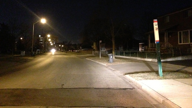 Toronto police say a woman was sexually assaulted near John Garland and Humber College boulevards Wednesday, Dec. 5, 2012. (Tom Stefanac/CP24)