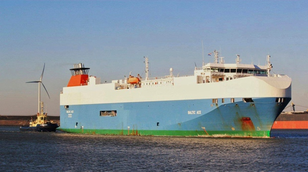 Baltic Ace ship sank North Sea Netherlands