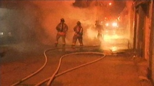 Bathurst Street fire Bloor Harbord closed