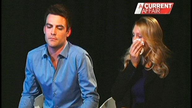 "In this screen grab Monday, Dec. 10, 2012, from the ""A Current Affair"" program by Australia's Channel Nine, radio DJs Michael Christian, left, and Mel Greig appear during an interview with the TV station. (AP Photo/Channel Nine)"