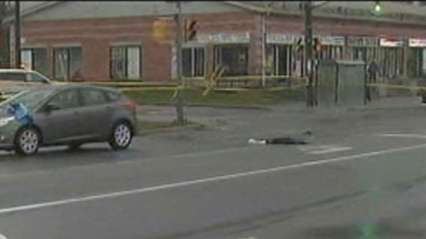 A man was seriously injured when he was struck by a vehicle on Kennedy Road, south of Eglinton Avenue East, on Monday, Dec. 10, 2012.